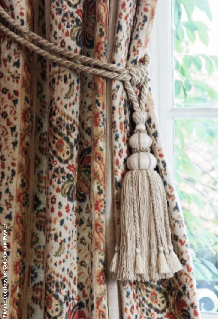 Curtain rods, passementerie